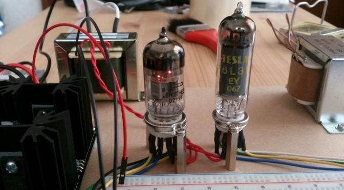 Re Electronics 懸賞品で作る真空管アンプ ブレッドボード作成1