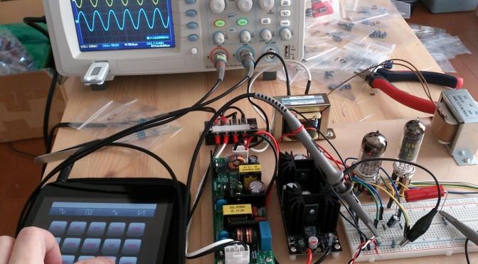 Re Electronics 懸賞品で作る真空管アンプ 初段の動作確認